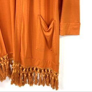 Piko Sweaters - Piko | Bamboo Fringe Duster Kimono